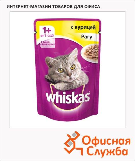 фото: Влажный корм для кошек Whiskas Рагу с курицей 85г