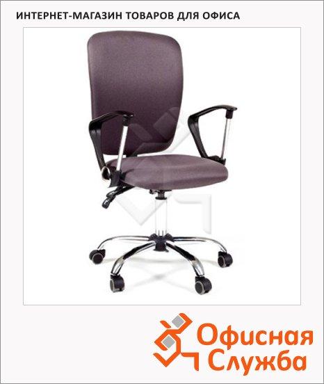Кресло офисное Chairman 9801 ткань, крестовина хром, NEW, серая