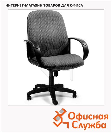Кресло руководителя Chairman 279-M ткань, серая, C, крестовина пластик, низкая спинка