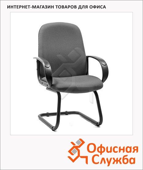 Кресло посетителя Chairman 279 V ткань, серая, TW, на полозьях