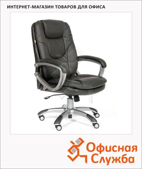 Кресло руководителя Chairman 668 иск. кожа, крестовина пластик, черная