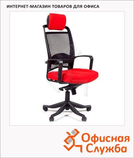 Кресло руководителя Chairman 283 ткань, крестовина пластик, красная