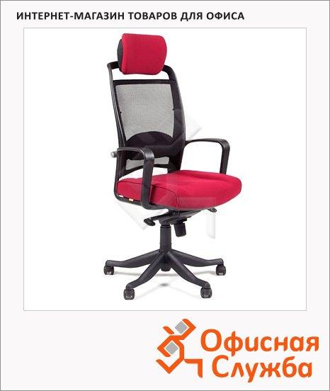 Кресло руководителя Chairman 283 ткань, крестовина пластик, бордовая