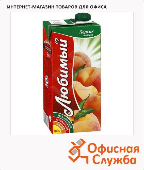 Сок Любимый Сад яблоко-персик, 0.95л х 4шт