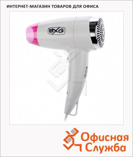 фото: Фен настенный Bxg 1200H3 белый с розовым 1200Вт, 2 скорости+холодный воздух