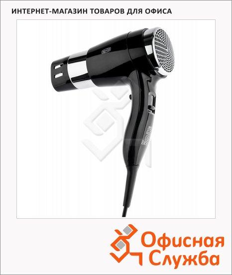 Фен настенный Bxg 1600H2 черный хром, 1600Вт, 2 скорости+холодный воздух