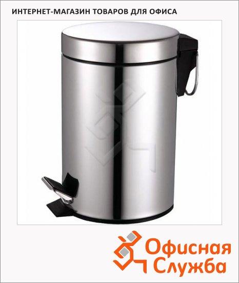 Контейнер для мусора с педалью Bxg Premium 20л, металлик, BXG-TCR-20L