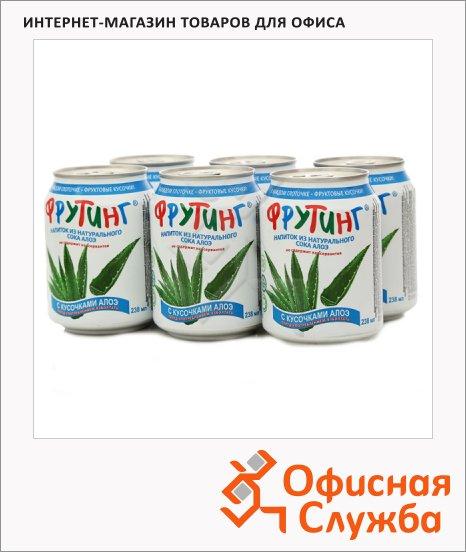 Сокосодержащий напиток Fruiting Алоэ-ананас, без газа, 0.238л х 6шт, ж/б