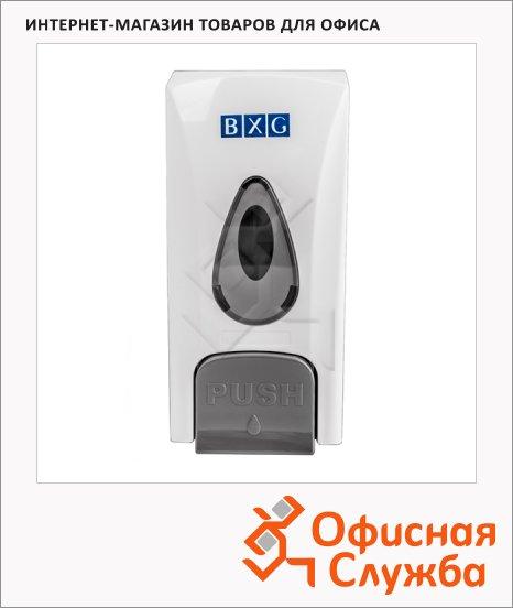 Диспенсер для мыла наливной Bxg SD-1178, бело-серый, 8.5х9х18см, 0.5л