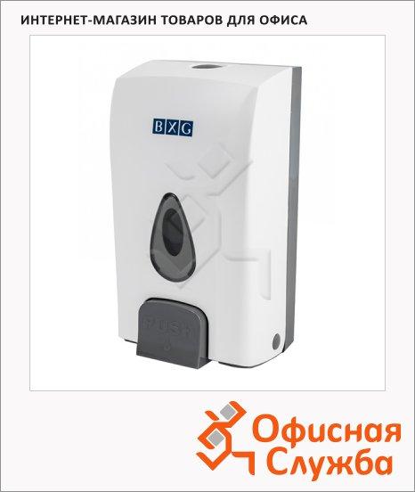 Диспенсер для мыла наливной Bxg SD-1188, бело-серый, 12х10х22.3см, 1л