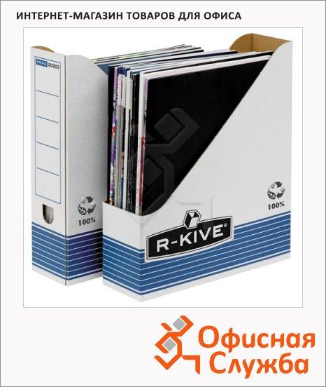 фото: Накопитель вертикальный для бумаг Fellowes R-Kive Prima А4 80мм, бело-синий, FS-0026301