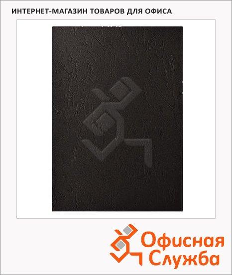 Обложки для переплета картонные Fellowes Delta черные, А3, 250 г/кв.м, 100шт, FS-53744