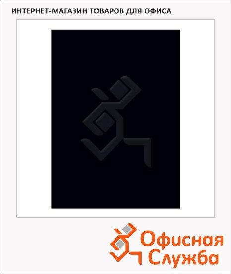 фото: Обложки для переплета картонные Fellowes Chromo черные А4, 250 г/кв.м, 100шт, FS-5378501