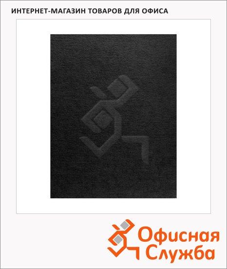 Обложки для переплета картонные Fellowes Linen черные, А4, 250 г/кв.м, 100шт, FS-5381401