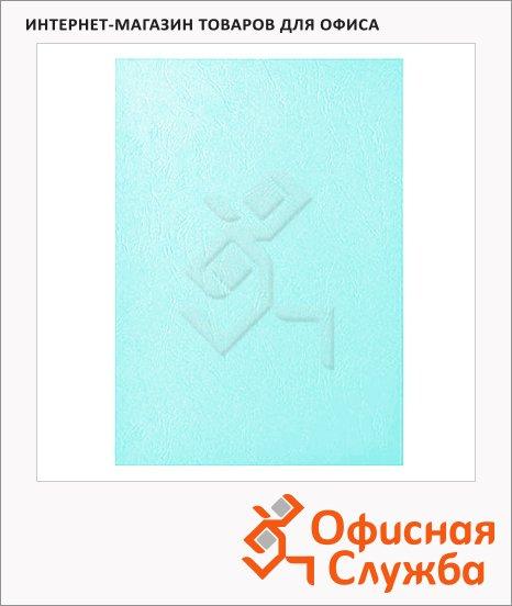 фото: Обложки для переплета картонные Fellowes Chromo голубые А4, 250 г/кв.м, 100шт, FS-5371401