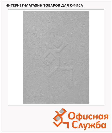 Обложки для переплета картонные Fellowes Chromo серые, А4, 250 г/кв.м, 100шт, FS-5371101