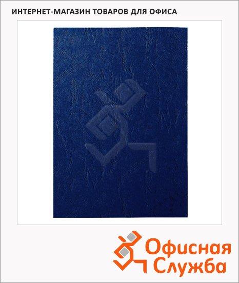 Обложки для переплета картонные Fellowes Chromo синие, А4, 250 г/кв.м, 100шт, FS-5371301