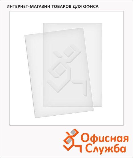 Обложки для переплета пластиковые Fellowes прозрачные, А4, 100шт, 300 мкм, FS-53763
