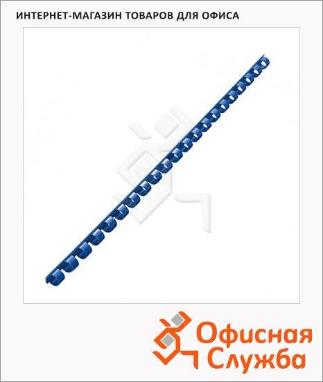 Пружины для переплета пластиковые Fellowes синие, на 2-30 листов, 6мм, 100шт, кольцо, FS-53451