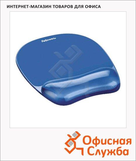 Коврик для мыши Fellowes голубой, с гелевой подкладкой