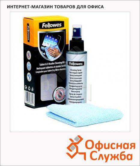 фото: Набор для чистки планшетов и электронных книг Fellowes спрей 120мл+салфетка FS-9930501