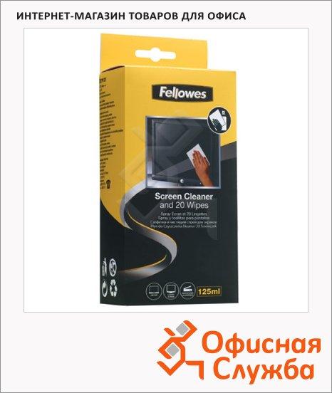 фото: Набор для чистки экранов Fellowes спрей 120мл+20 салфеток FS-99701
