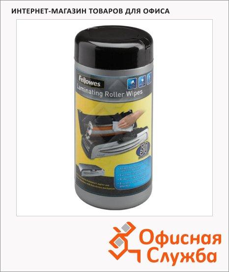 Салфетки чистящие для валов ламинаторов Fellowes 50 шт/уп, в тубе, FS-5703701