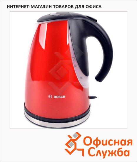 Чайник электрический Bosch TWK7704RU красный, 1.7 л, 2200 Вт