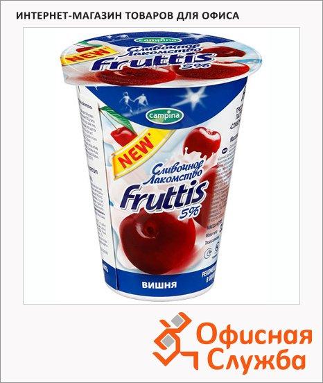 фото: Йогурт Fruttis Сливочное лакомство вишня 5%, 320г