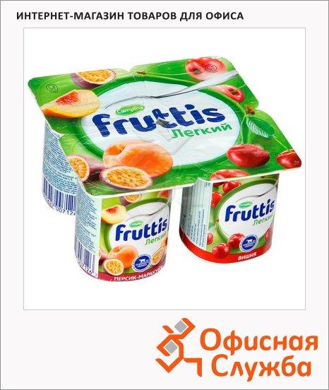 Йогурт Fruttis Легкий персик-маракуйя-вишня, 0.1%, 4х110 г