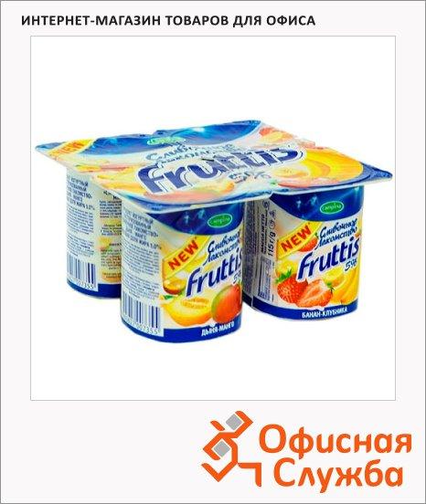 фото: Йогурт Fruttis Сливочное лакомство дыня-манго-банан-клубника 5%, 115г