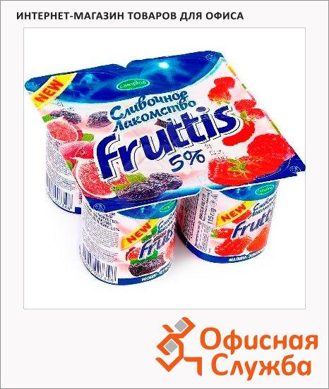 Йогурт Fruttis Сливочное лакомство инжир-черешня-малина-земляника, 5%, 115г