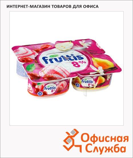 фото: Йогурт Fruttis Суперэкстра груша-ваниль-вишневый пломбир 8%, 115г
