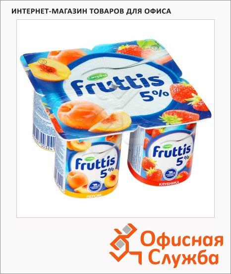 Йогурт Fruttis Сливочное лакомство персик-клубника, 5%, 115г