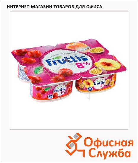 фото: Йогурт Fruttis Суперэкстра вишня-персик-маракуйя 8%, 115г