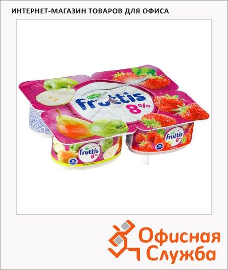 фото: Йогурт Fruttis Суперэкстра яблоко-груша-клубника 8%, 115г