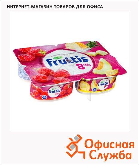 Йогурт Fruttis Суперэкстра малина-ананас-дыня, 8%, 115г