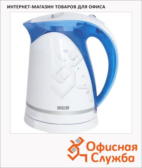 Чайник электрический Mystery MEK-1616, 1.7 л, 1850Вт, голубой