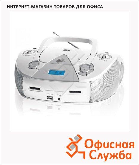 Магнитола Bbk BX318U белая, CD-R/CD-RW/USB