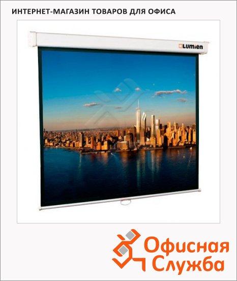 фото: Экран для проектора настенный Lumien 141х220см ручной