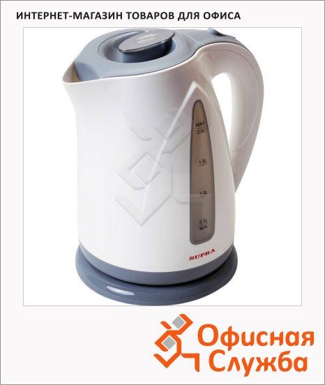 фото: Чайник электрический Supra KES-2004 серый 2 л, 2200 Вт