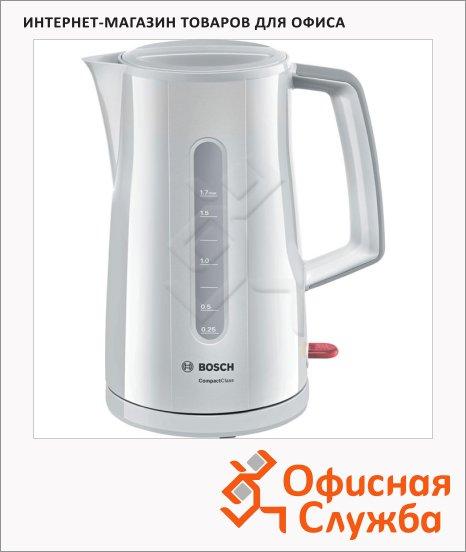 фото: Чайник электрический Bosch Compact Class TWK3A017 белый 1.7 л, 2400 Вт