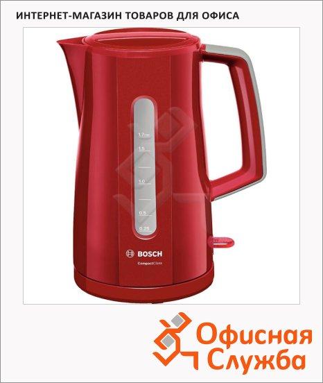 Чайник электрический Bosch Compact Class TWK3A017 красный, 1.7 л, 2400 Вт