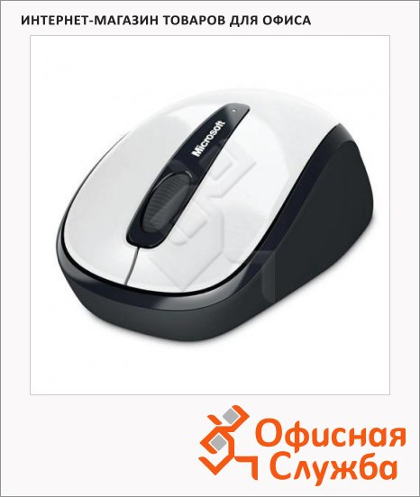 ���� ������������ ���������� USB Microsoft Wireless Mobile Mouse 3500, 1000dpi, �����