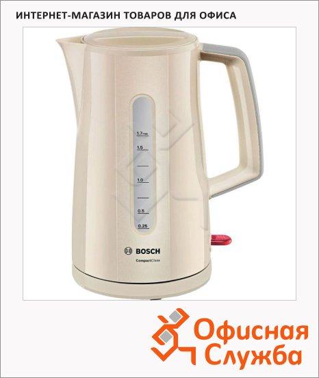 фото: Чайник электрический Bosch Compact Class TWK3A017 кремовый 1.7 л, 2400 Вт