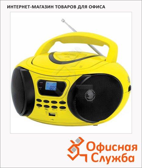фото: Магнитола Bbk BX107U желто-черная CD/CD-RW/USB