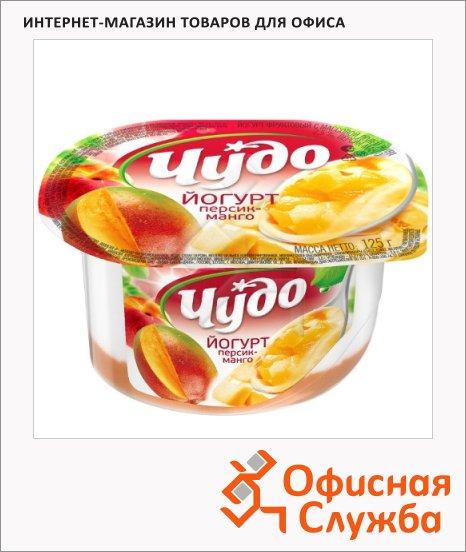 Йогурт Чудо джем-персик-манго, 2.5%, 125г