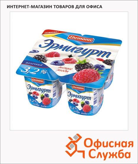 Йогурт Эрмигурт Молочный лесные ягоды, 3.2%, 4х115г