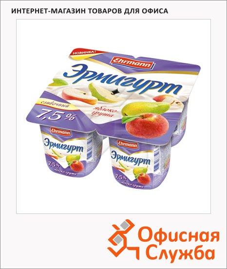 Йогурт Эрмигурт Сливочный яблоко-груша, 7.5%, 4х115г