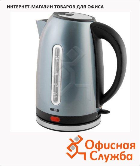 Чайник электрический Mystery MEK-1630, 1.7 л, 2000 Вт, металлик